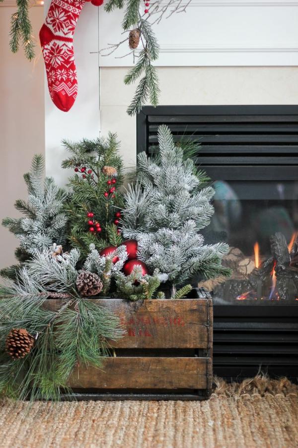 Rustic χωριάτικη Χριστουγεννιάτικη διακόσμηση24