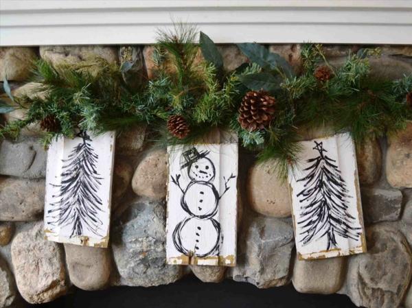 Rustic χωριάτικη Χριστουγεννιάτικη διακόσμηση329