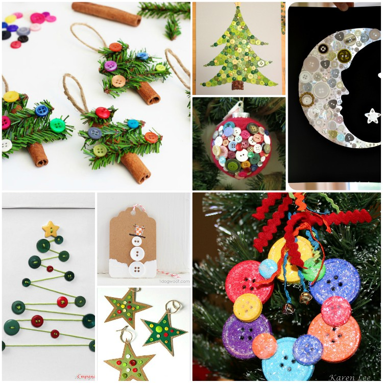 Χαριτωμένες DIY κατασκευές από κουμπιά για τα Χριστούγεννα