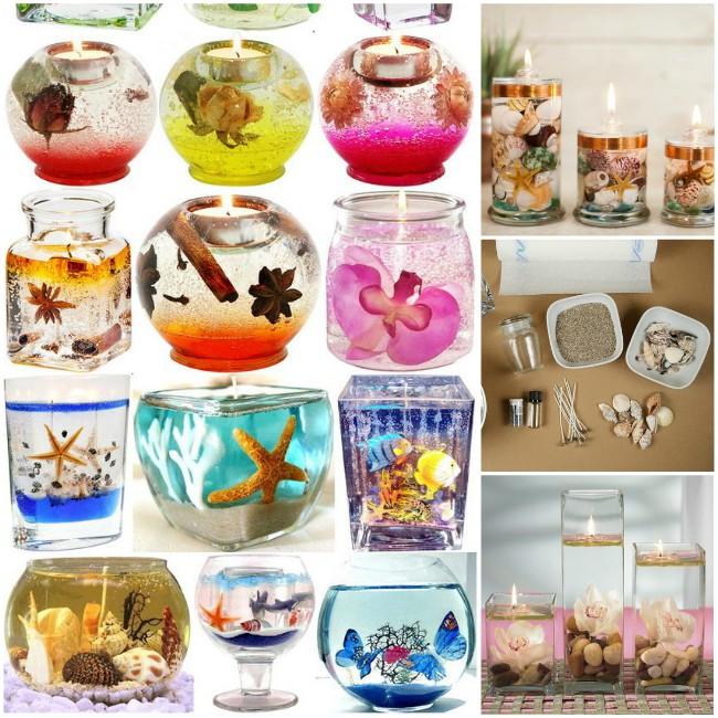 Διακοσμητικά κεριά gel