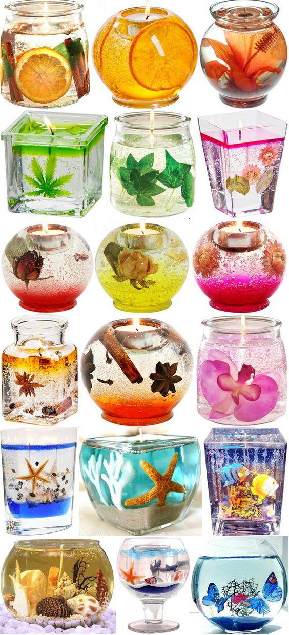 Διακοσμητικά κεριά gel21