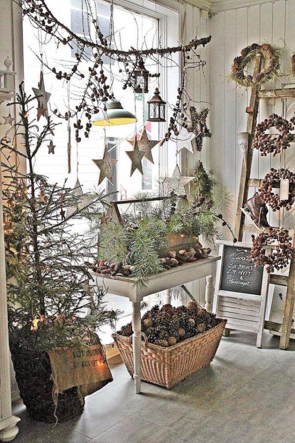 Ρουστίκ Χριστουγεννιάτικη διακόσμηση24