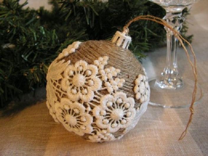 Χριστουγεννιάτικα στολίδια από σπάγκο11
