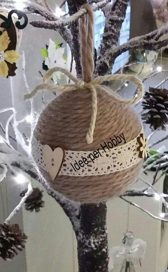 Χριστουγεννιάτικα στολίδια από σπάγκο16