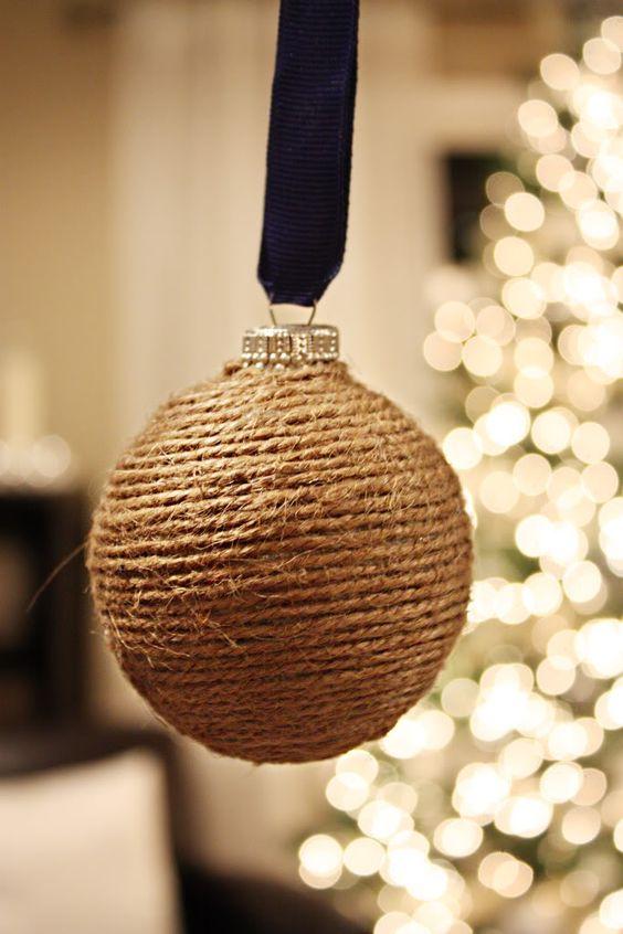 Χριστουγεννιάτικα στολίδια από σπάγκο18