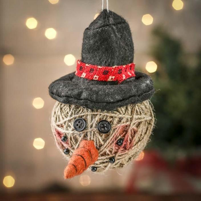 Χριστουγεννιάτικα στολίδια από σπάγκο3