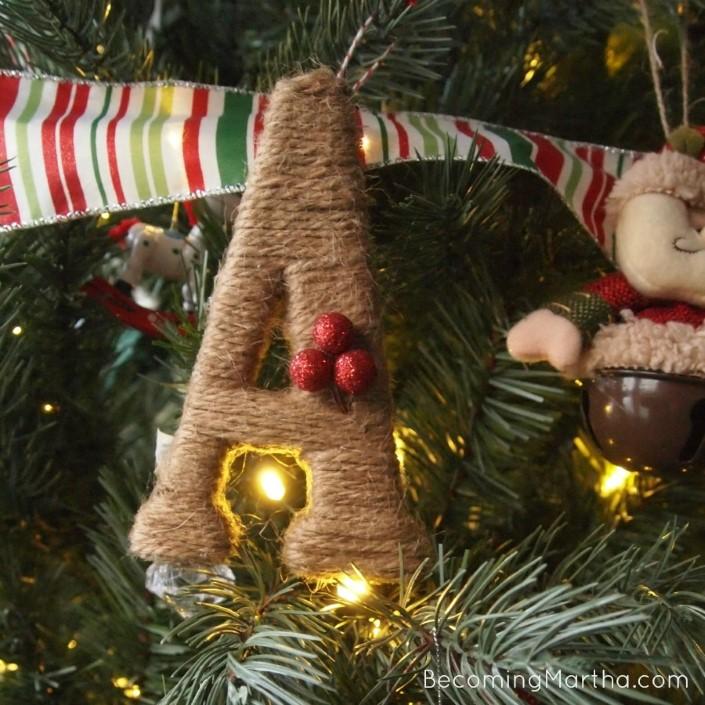 Χριστουγεννιάτικα στολίδια από σπάγκο6