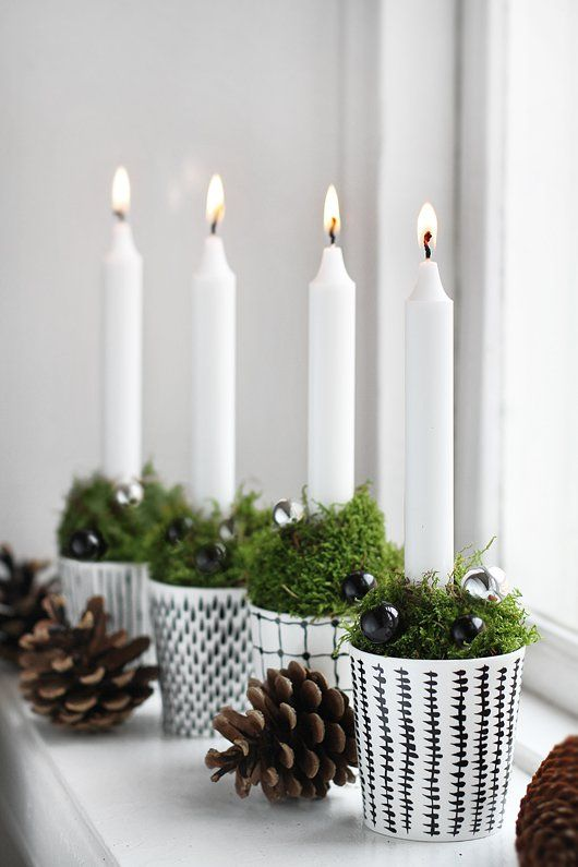Χριστουγεννιάτικη διακόσμηση με κεριά1