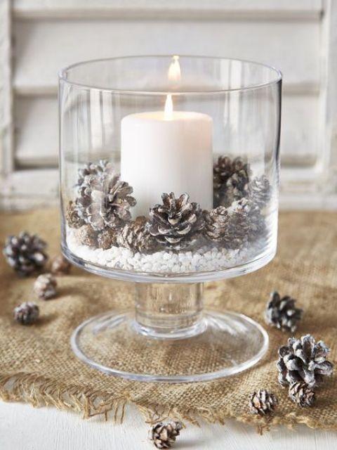 Χριστουγεννιάτικη διακόσμηση με κεριά10