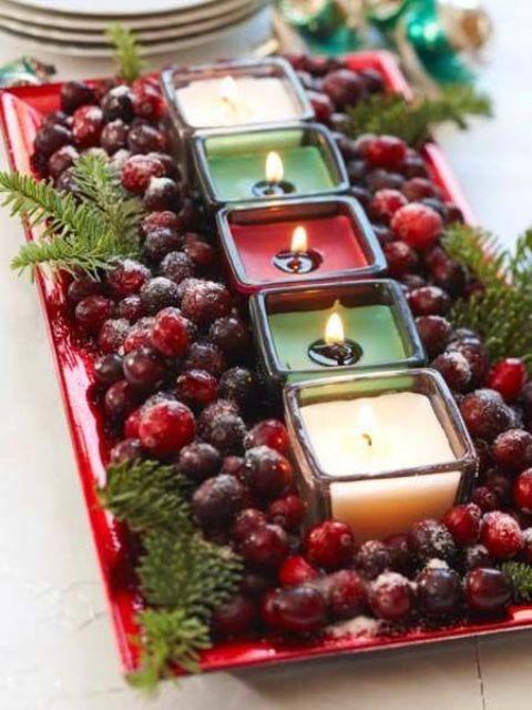 Χριστουγεννιάτικη διακόσμηση με κεριά11