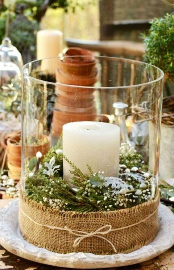 Χριστουγεννιάτικη διακόσμηση με κεριά12