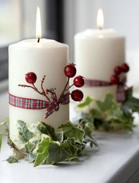 Χριστουγεννιάτικη διακόσμηση με κεριά15