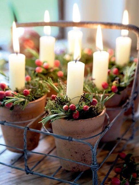 Χριστουγεννιάτικη διακόσμηση με κεριά18
