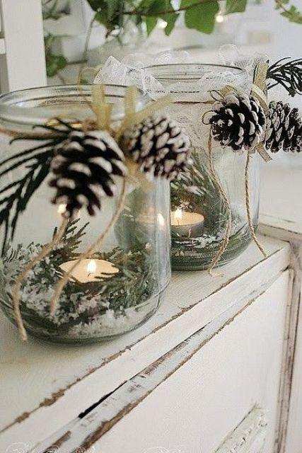 Χριστουγεννιάτικη διακόσμηση με κεριά19