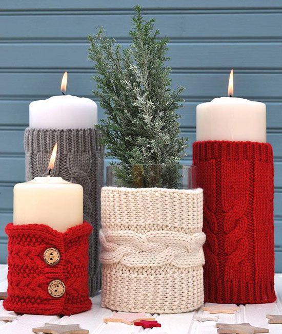 Χριστουγεννιάτικη διακόσμηση με κεριά2