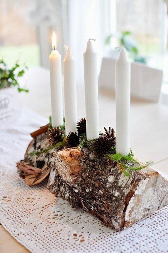 Χριστουγεννιάτικη διακόσμηση με κεριά22