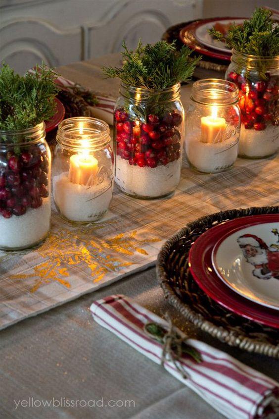 Χριστουγεννιάτικη διακόσμηση με κεριά25