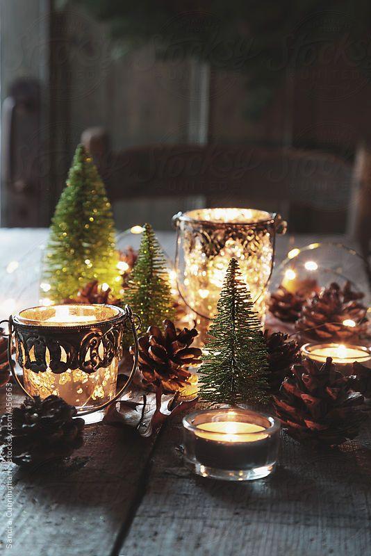 Χριστουγεννιάτικη διακόσμηση με κεριά27