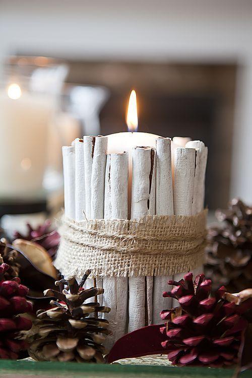 Χριστουγεννιάτικη διακόσμηση με κεριά3