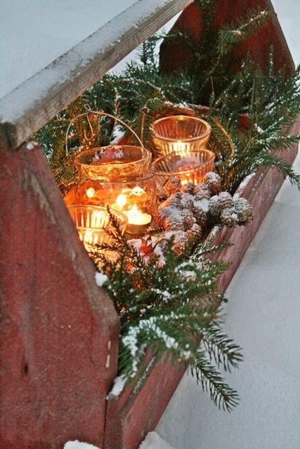 Χριστουγεννιάτικη διακόσμηση με κεριά57