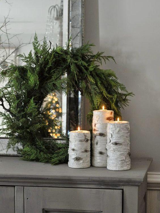 Χριστουγεννιάτικη διακόσμηση με κεριά6