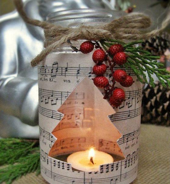 Χριστουγεννιάτικη διακόσμηση με κεριά7