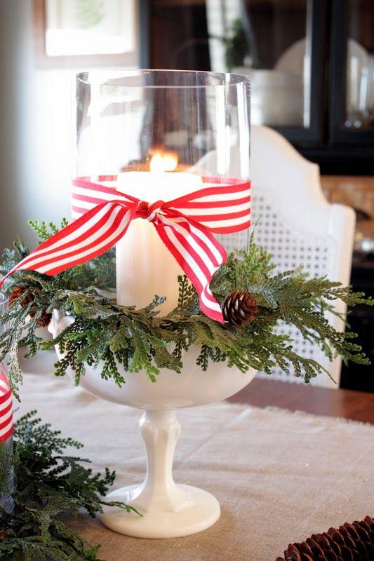 Χριστουγεννιάτικη διακόσμηση με κεριά8
