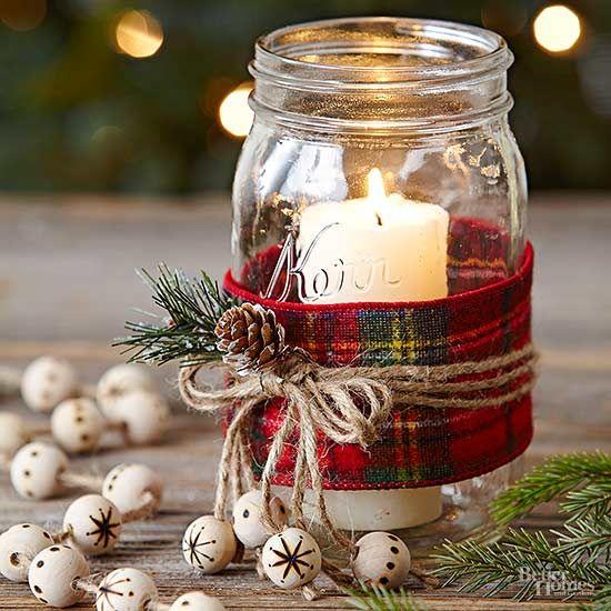 Χριστουγεννιάτικη διακόσμηση με κεριά9