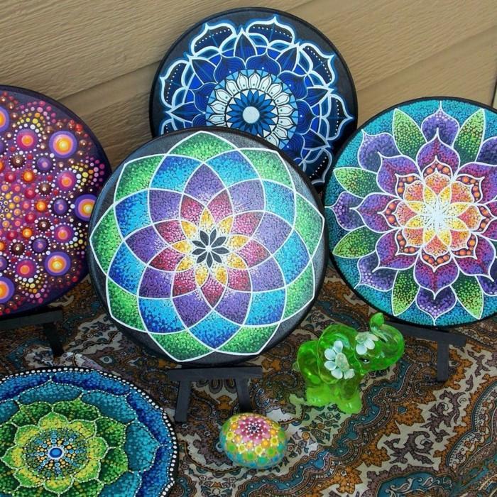 ζωγραφική μάνταλα σε πέτρες και βότσαλα14