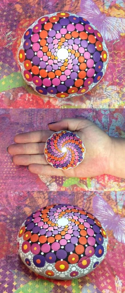 ζωγραφική μάνταλα σε πέτρες και βότσαλα26