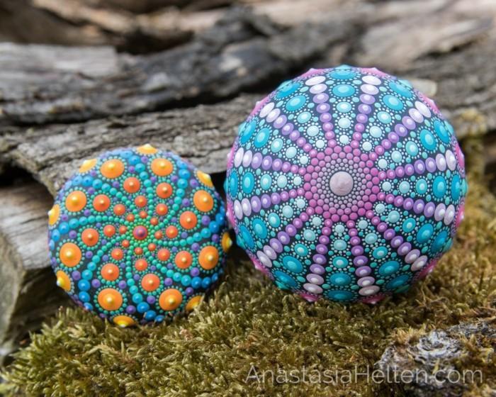ζωγραφική μάνταλα σε πέτρες και βότσαλα27