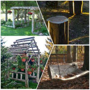 DIY έργα από ξύλο για τον κήπο