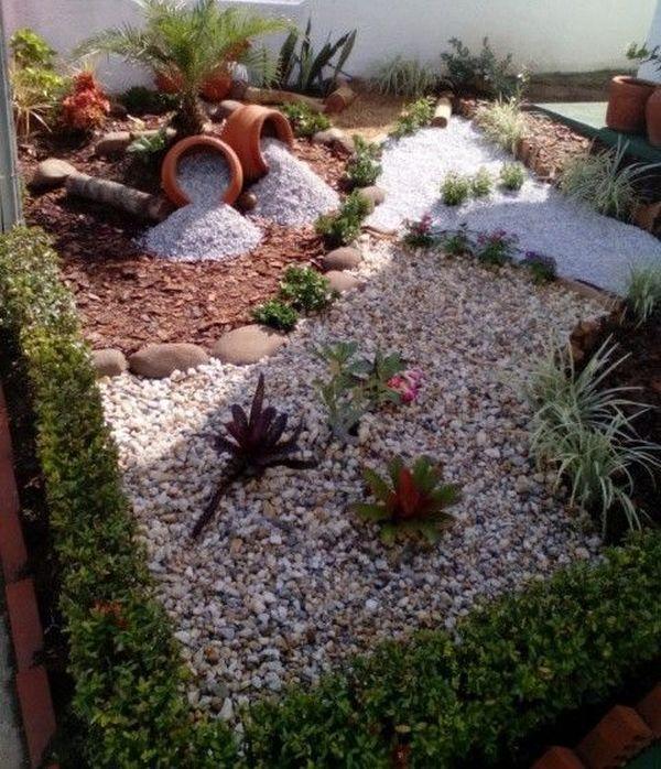 διακόσμηση στον κήπο με πέτρες και πυθάρια11