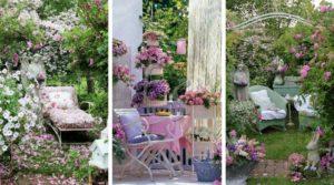 Shabby Chic ιδέες κήπου