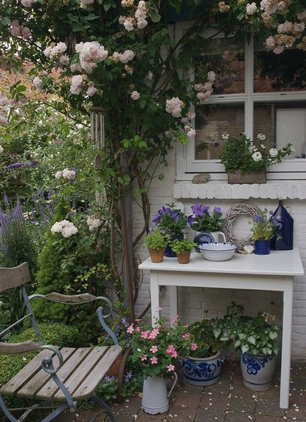 Shabby Chic ιδέες κήπου10