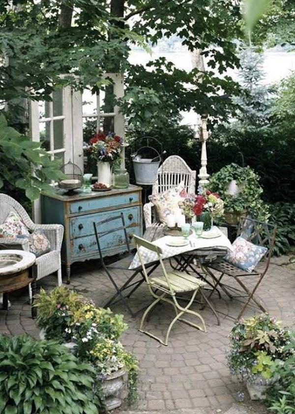 Shabby Chic ιδέες κήπου4