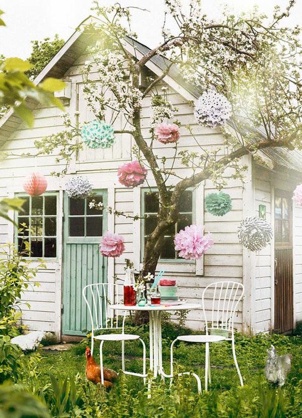 Shabby Chic ιδέες κήπου5