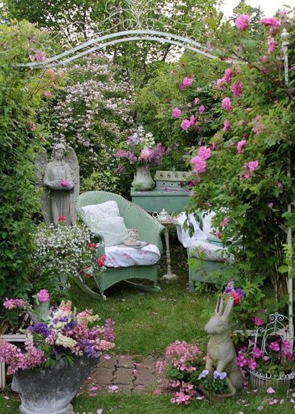 Shabby Chic ιδέες κήπου7