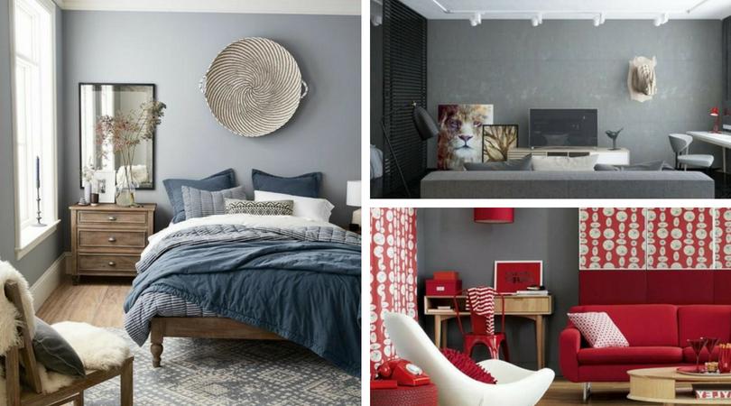 Χρώμα τοίχου ανοιχτό γκρι - ένα χαρακτηριστικό φόντο για κάθε μοντέρνο δωμάτιο