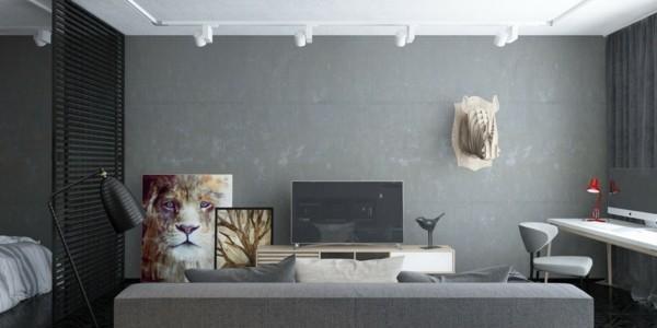 Χρώμα τοίχου ανοιχτό γκρι6