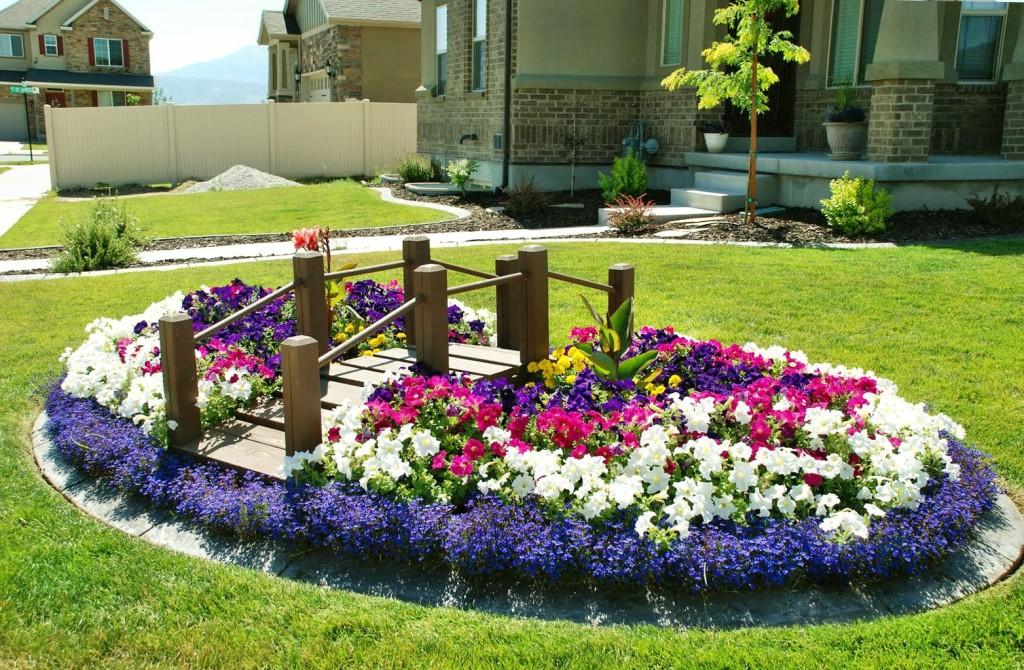 Λουλούδια μπροστά από το σπίτι1