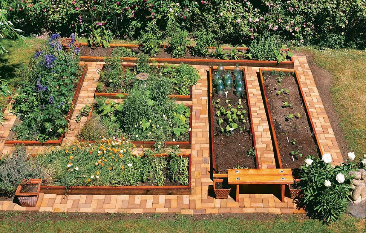 αστικός κήπος λαχανικών ιδέες18