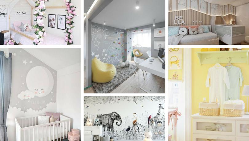 68c036abb54 Πώς να διακοσμήσετε τους τοίχους στο βρεφικό και νηπιακό δωμάτιο: 48  θαυμάσια παραδείγματα