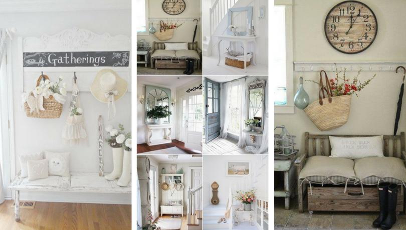 31 Γλυκές ιδέες χωριάτικης Shabby Chic διακόσμησης για την είσοδο του σπιτιού σας