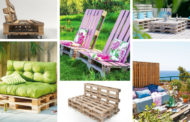 DIY έπιπλα εξωτερικού χώρου από παλέτες για επιπλέον θέσεις καθιστικού – 73 νέες ιδέες με πολυθρόνες, καναπέδες ή παγκάκια
