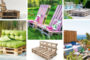 DIY έπιπλα εξωτερικού χώρου από παλέτες για επιπλέον θέσεις καθιστικού - 73 νέες ιδέες με πολυθρόνες, καναπέδες ή παγκάκια