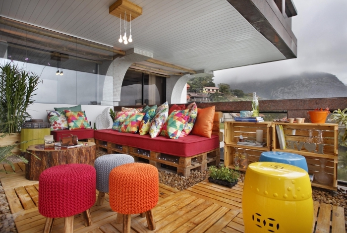 DIY έπιπλα εξωτερικού χώρου από παλέτες13