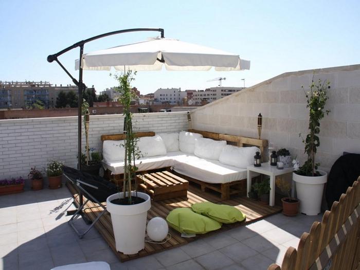 DIY έπιπλα εξωτερικού χώρου από παλέτες15