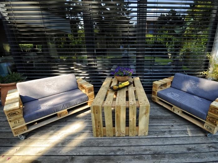 DIY έπιπλα εξωτερικού χώρου από παλέτες36