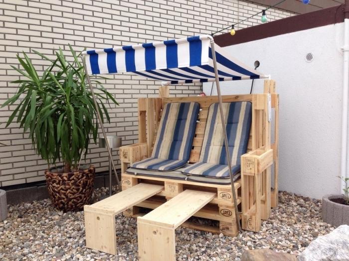DIY έπιπλα εξωτερικού χώρου από παλέτες50
